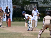Collegians vs students cricket match