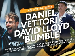 An evening with Daniel Vettori and David Lloyd 'Bumble'