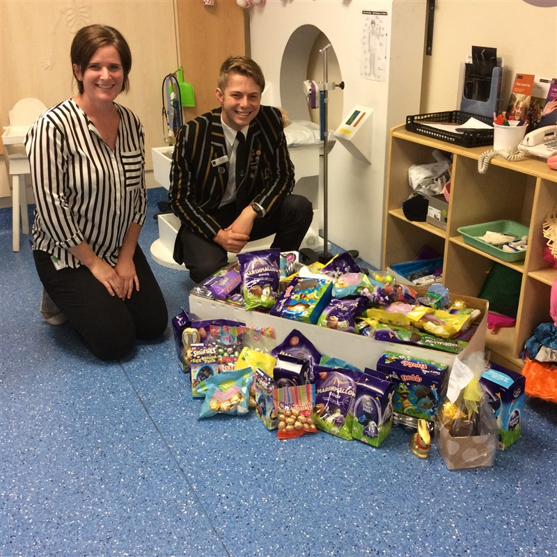 Outreach team brighten sick children's Easter