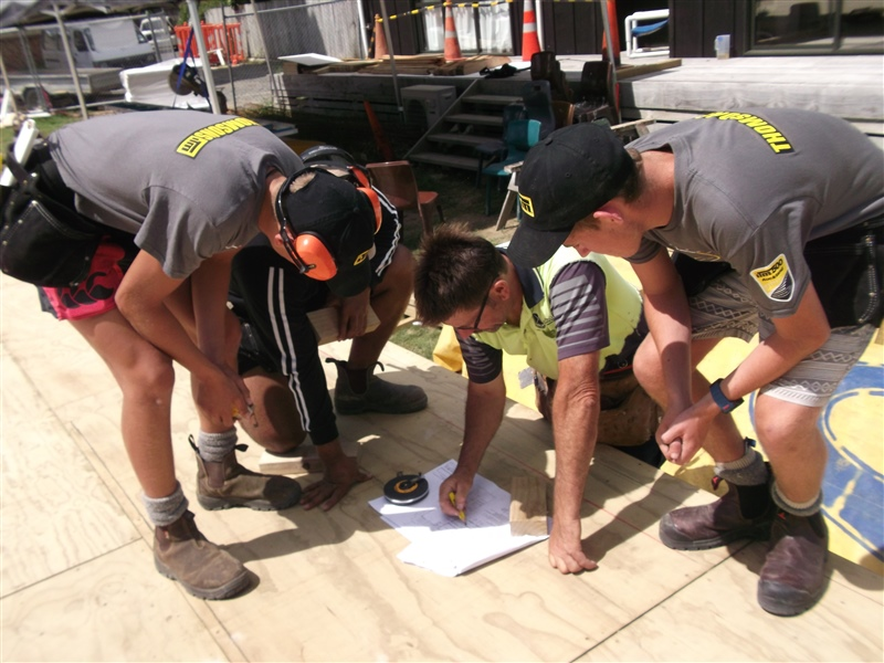 Construction Class begin building four-bedroom house