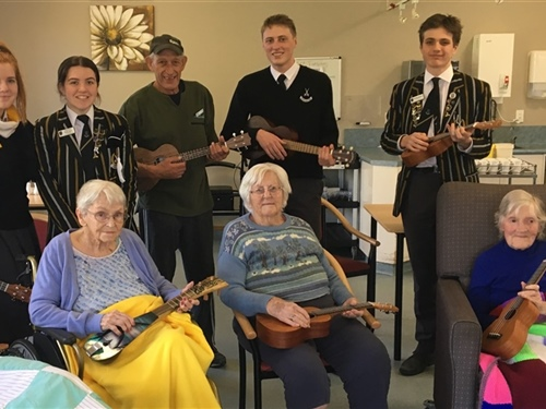 Ukulele a hit with St Joans residents
