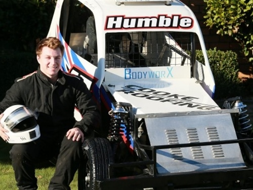 Aaron Humble is loving the rough and rumble of racing Ministocks