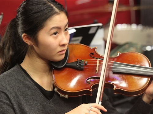 Stepping up to concertmaster