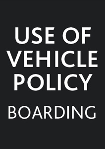 Use of vehicles policy (boarding students)