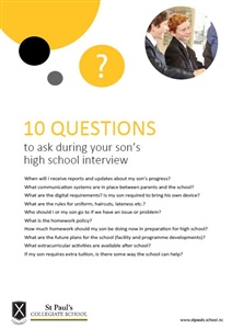 Your son's high school interview